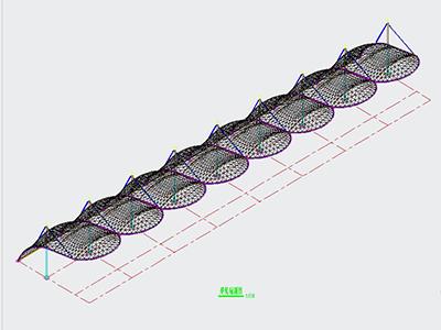 膜结构设计CAD图纸