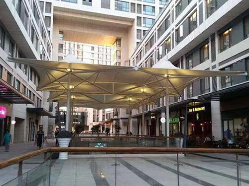 购物中心张拉膜,商业街膜结构