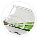采用进口膜材设计制作的商业街膜结构使得膜结构和钢结构工程成为现代化的永久建筑,美观而且耐用。